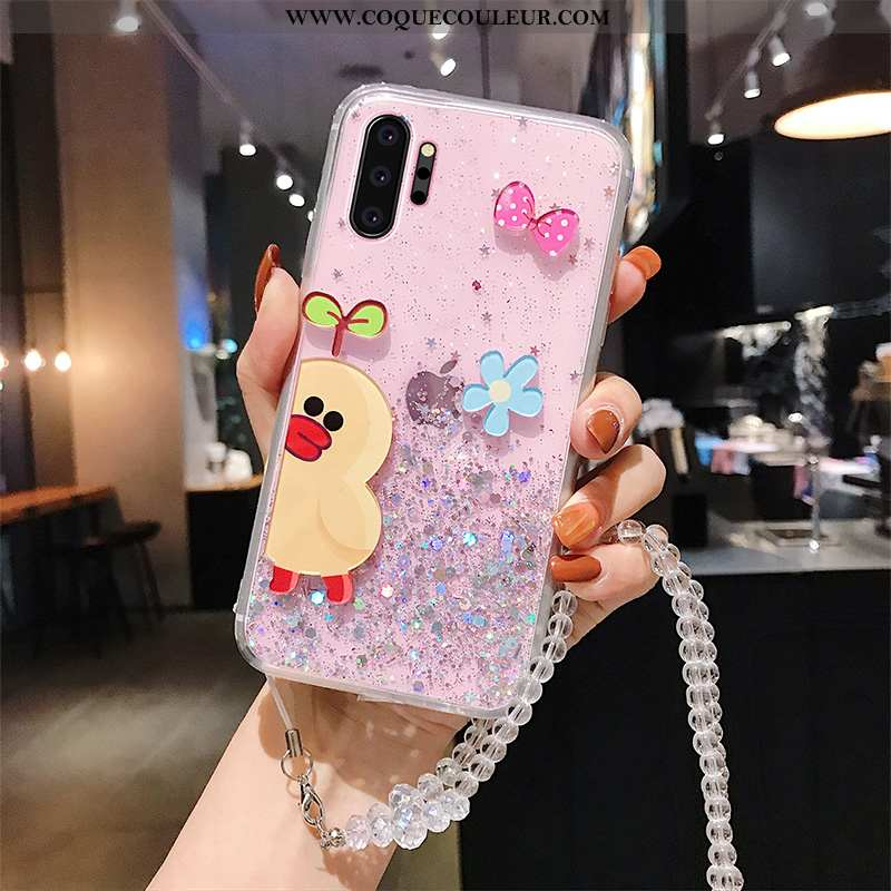 Coque Samsung Galaxy Note 10+ Fluide Doux Rose Mode, Housse Samsung Galaxy Note 10+ Silicone Charman