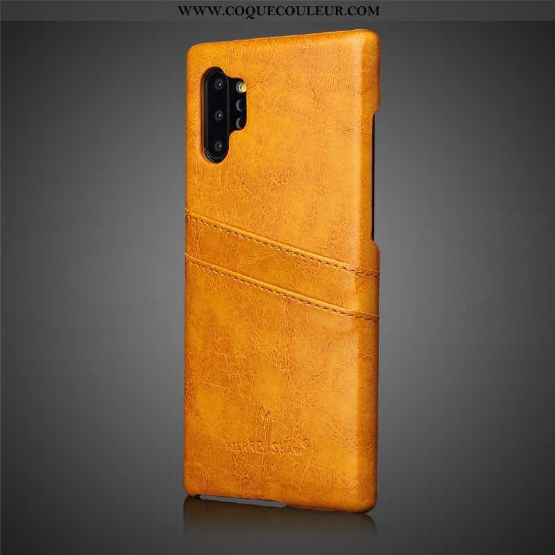 Coque Samsung Galaxy Note 10+ Créatif Étui Protection, Housse Samsung Galaxy Note 10+ Cuir Véritable