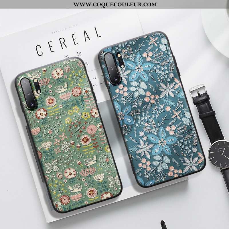 Étui Samsung Galaxy Note 10+ Fluide Doux Gaufrage Étoile, Coque Samsung Galaxy Note 10+ Silicone Ble