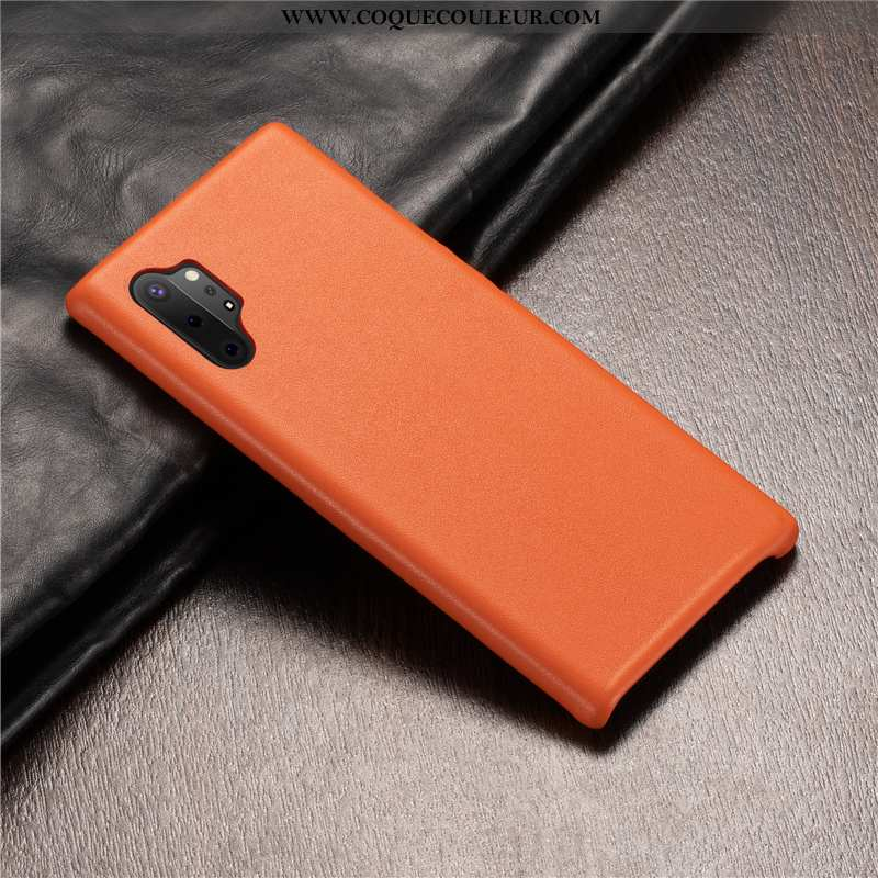 Étui Samsung Galaxy Note 10+ Cuir Véritable Étoile Protection, Coque Samsung Galaxy Note 10+ Cuir To