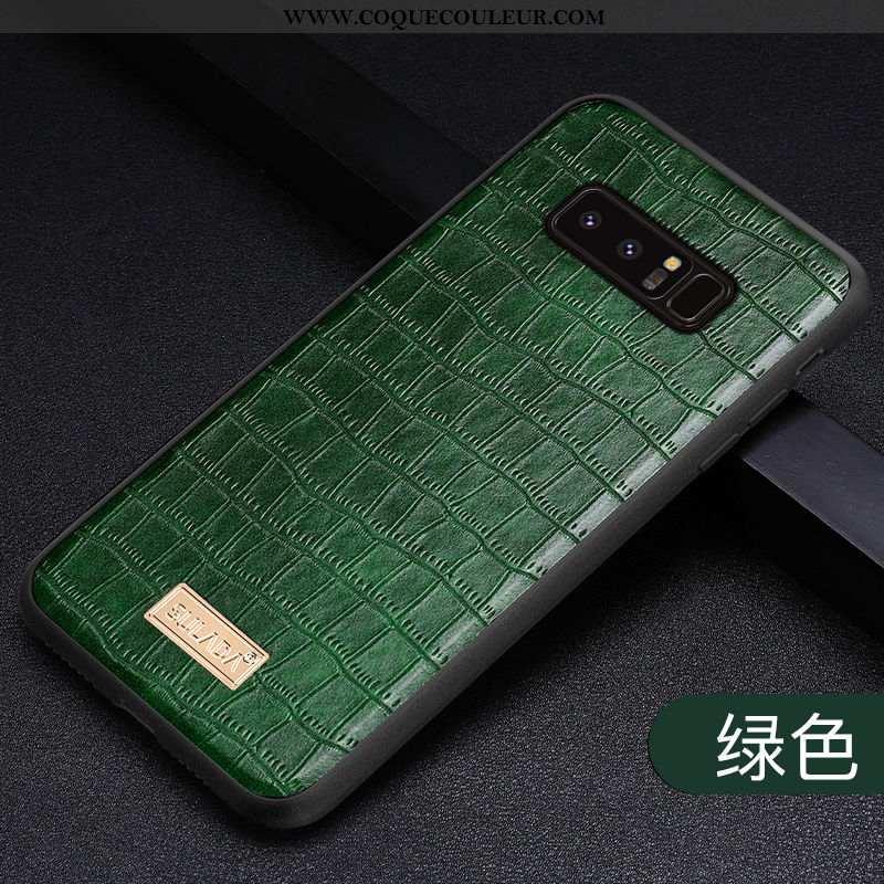Étui Samsung Galaxy Note 8 Cuir Véritable Coque Téléphone Portable, Samsung Galaxy Note 8 Tendance P