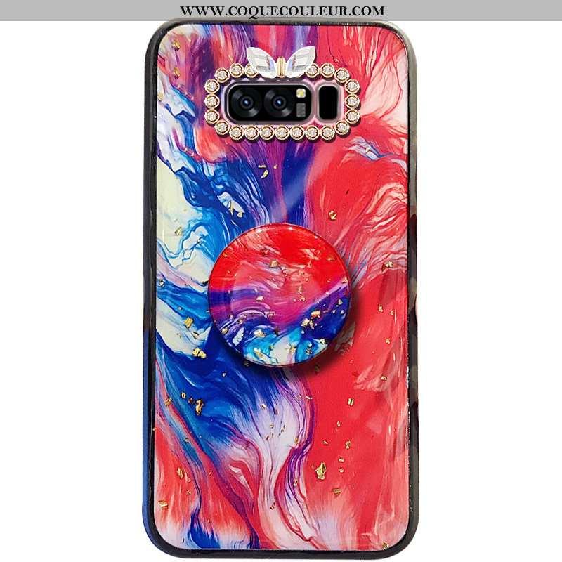 Étui Samsung Galaxy Note 8 Fluide Doux Protection, Coque Samsung Galaxy Note 8 Mode Rouge