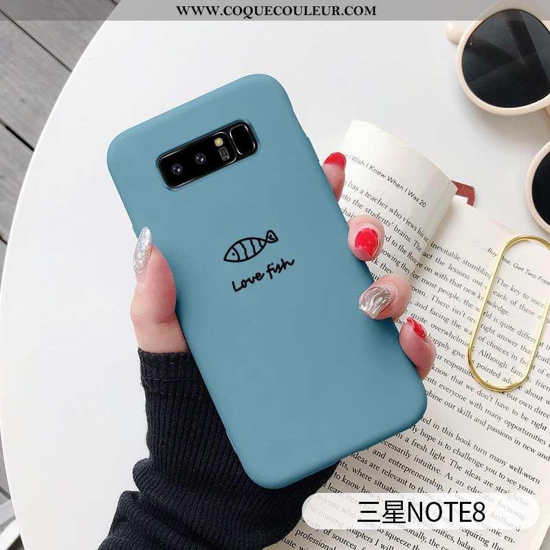Étui Samsung Galaxy Note 8 Silicone Incassable Amoureux, Coque Samsung Galaxy Note 8 Personnalité Bl