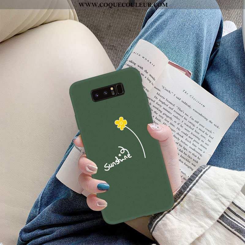 Étui Samsung Galaxy Note 8 Silicone Tout Compris Légère, Coque Samsung Galaxy Note 8 Protection Vert