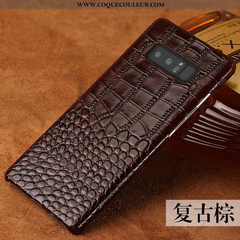 Housse Samsung Galaxy Note 8 Créatif Personnalisé Étoile, Étui Samsung Galaxy Note 8 Cuir Véritable