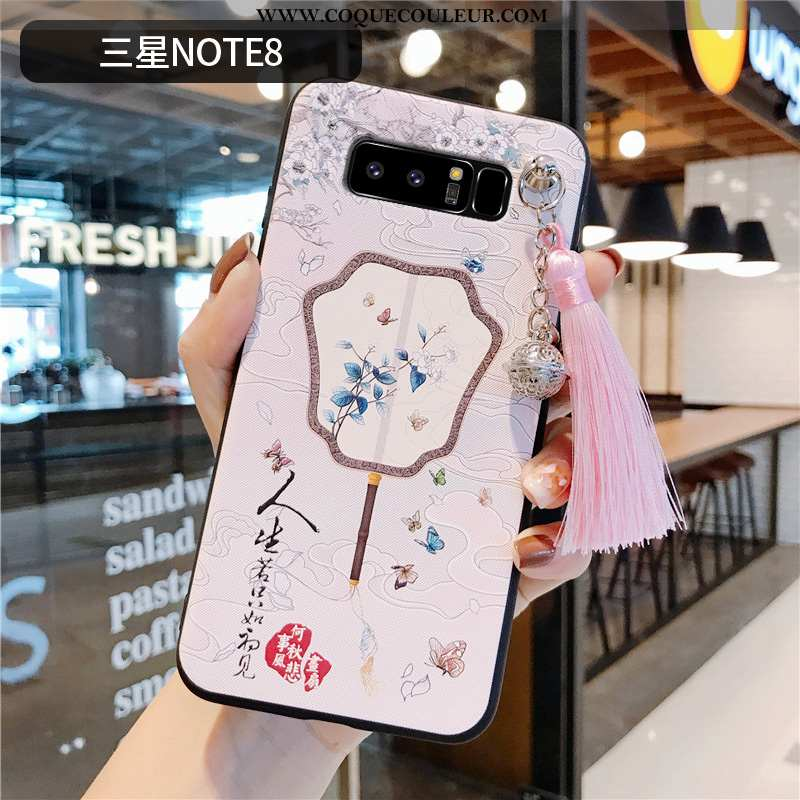 Housse Samsung Galaxy Note 8 Protection Rose Ultra, Étui Samsung Galaxy Note 8 Personnalité Style Ch