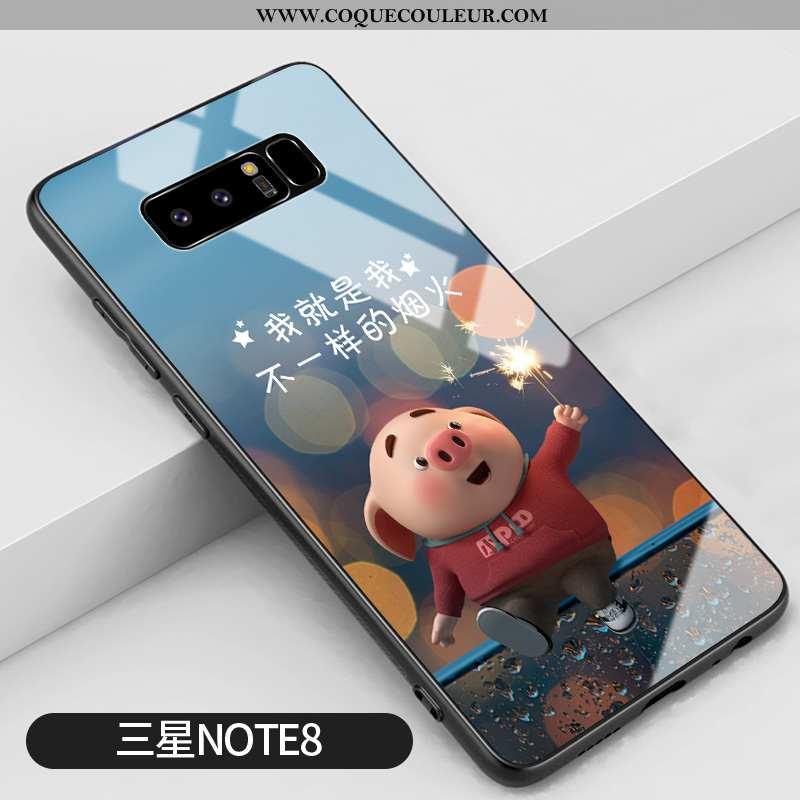 Coque Samsung Galaxy Note 8 Personnalité Amoureux Bleu, Housse Samsung Galaxy Note 8 Créatif Dessin