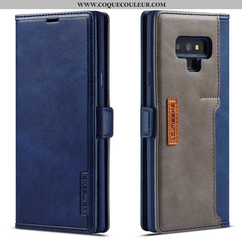 Coque Samsung Galaxy Note 9 Cuir Véritable Luxe Tempérer, Housse Samsung Galaxy Note 9 Tout Compris