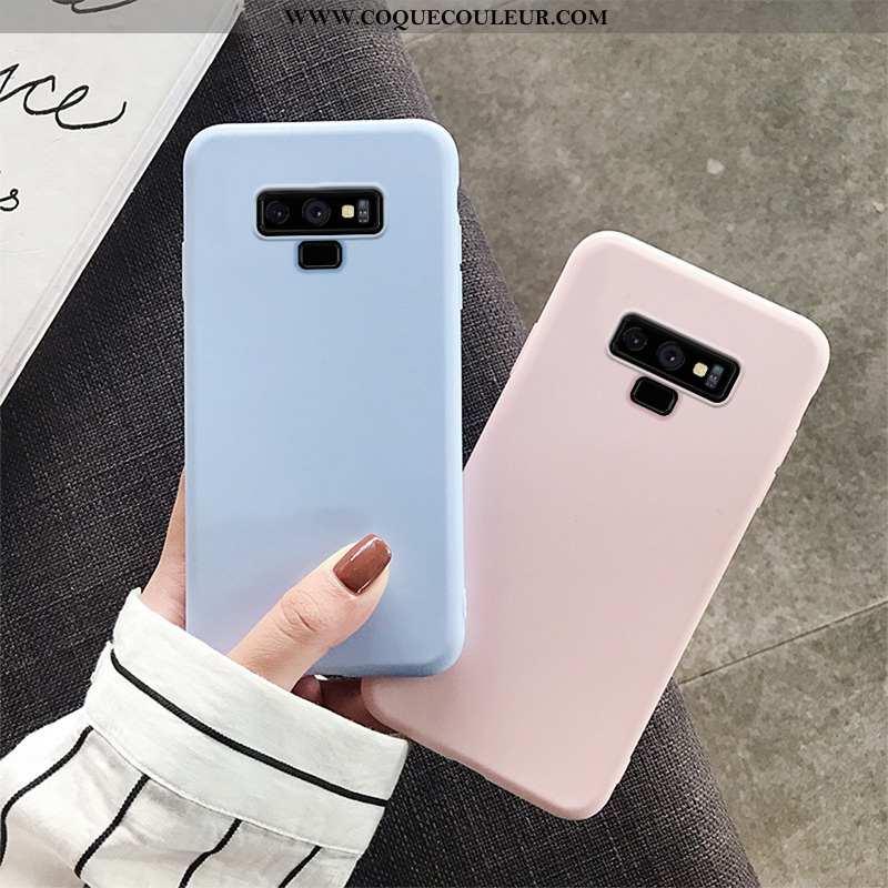 Housse Samsung Galaxy Note 9 Légère Simple Nouveau, Étui Samsung Galaxy Note 9 Silicone Bleu