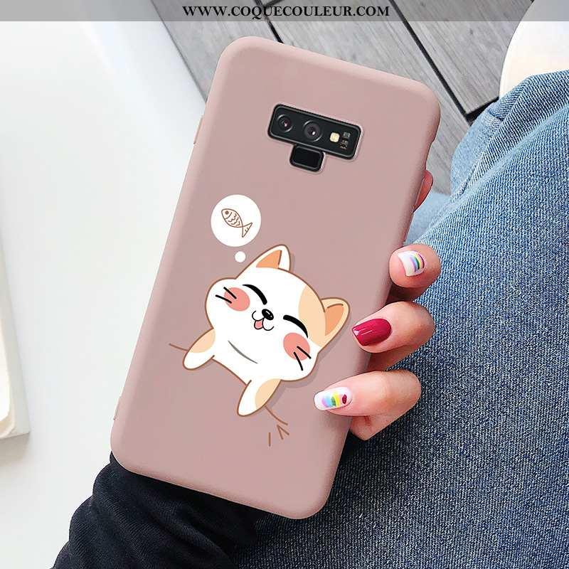 Housse Samsung Galaxy Note 9 Dessin Animé Tendance Rose, Étui Samsung Galaxy Note 9 Charmant Tout Co