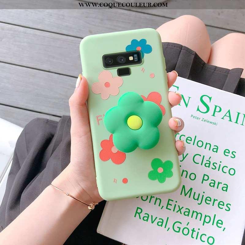 Étui Samsung Galaxy Note 9 Personnalité Protection Fleur, Coque Samsung Galaxy Note 9 Dessin Animé V
