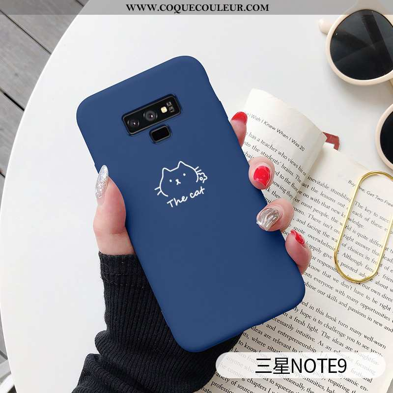 Housse Samsung Galaxy Note 9 Personnalité Chat Amoureux, Étui Samsung Galaxy Note 9 Créatif Dessin A