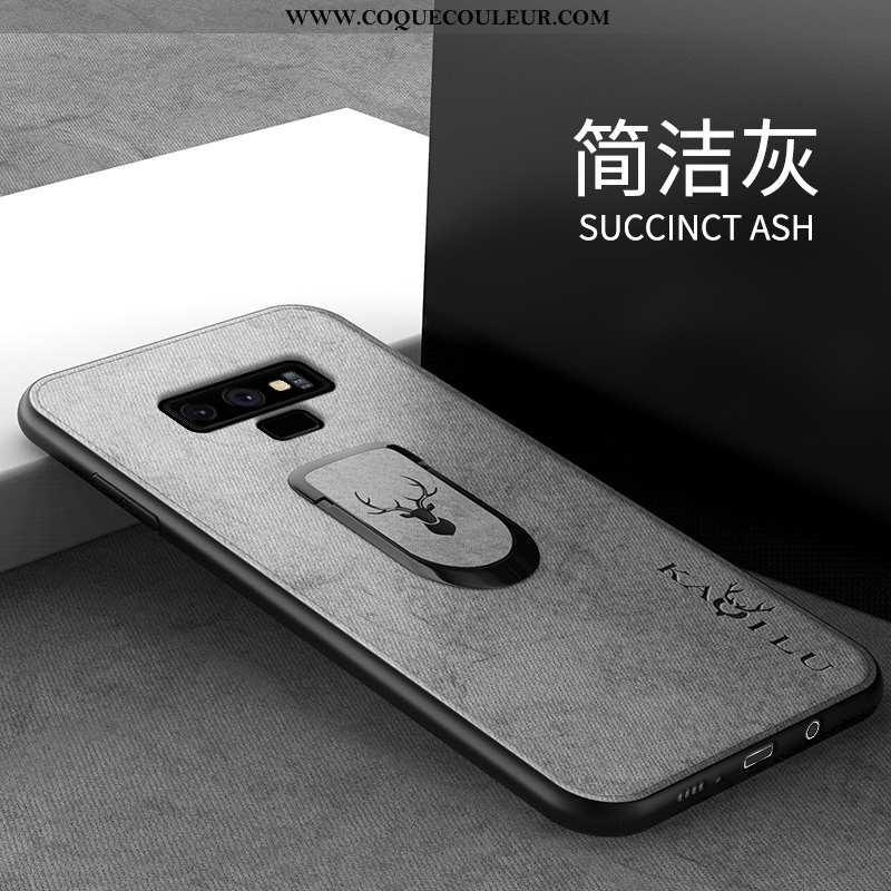 Housse Samsung Galaxy Note 9 Silicone Tendance Gris, Étui Samsung Galaxy Note 9 Protection Créatif G