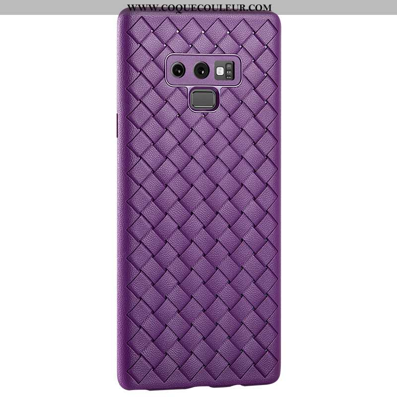 Coque Samsung Galaxy Note 9 Silicone Tissage Fluide Doux, Housse Samsung Galaxy Note 9 Protection Vi