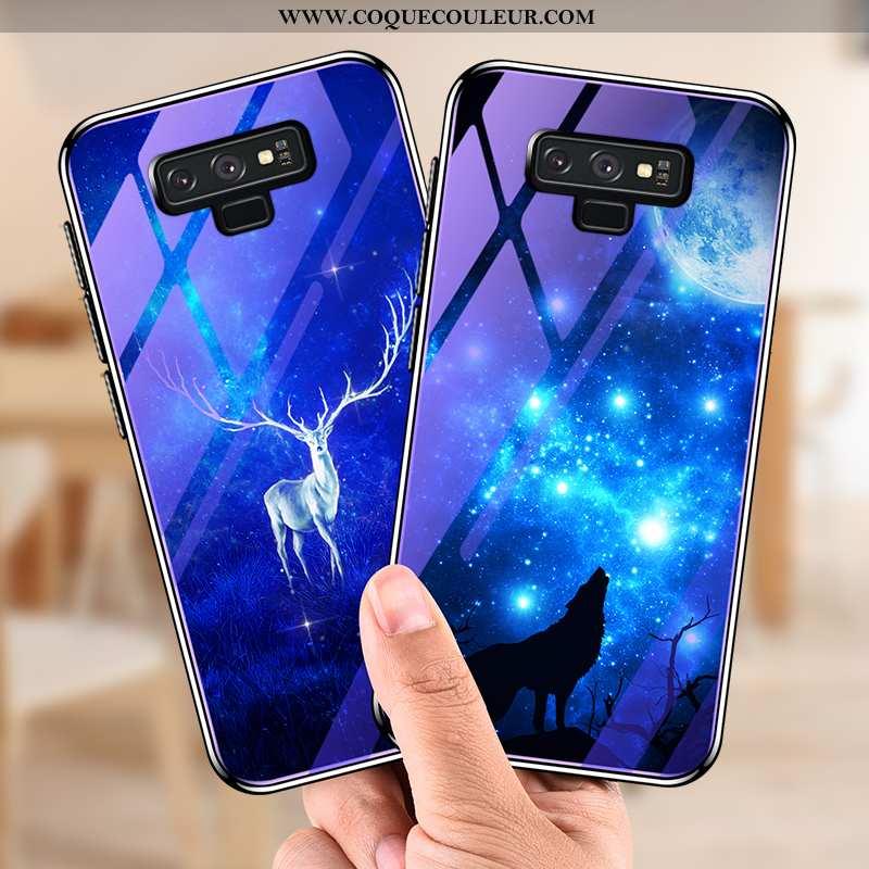 Housse Samsung Galaxy Note 9 Ultra Fluide Doux Bleu Marin, Étui Samsung Galaxy Note 9 Tendance Prote