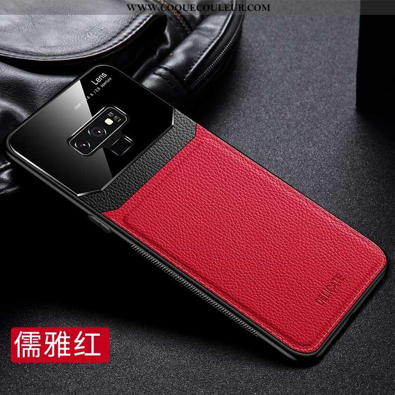 Coque Samsung Galaxy Note 9 Délavé En Daim Tout Compris Luxe, Housse Samsung Galaxy Note 9 Cuir Véri