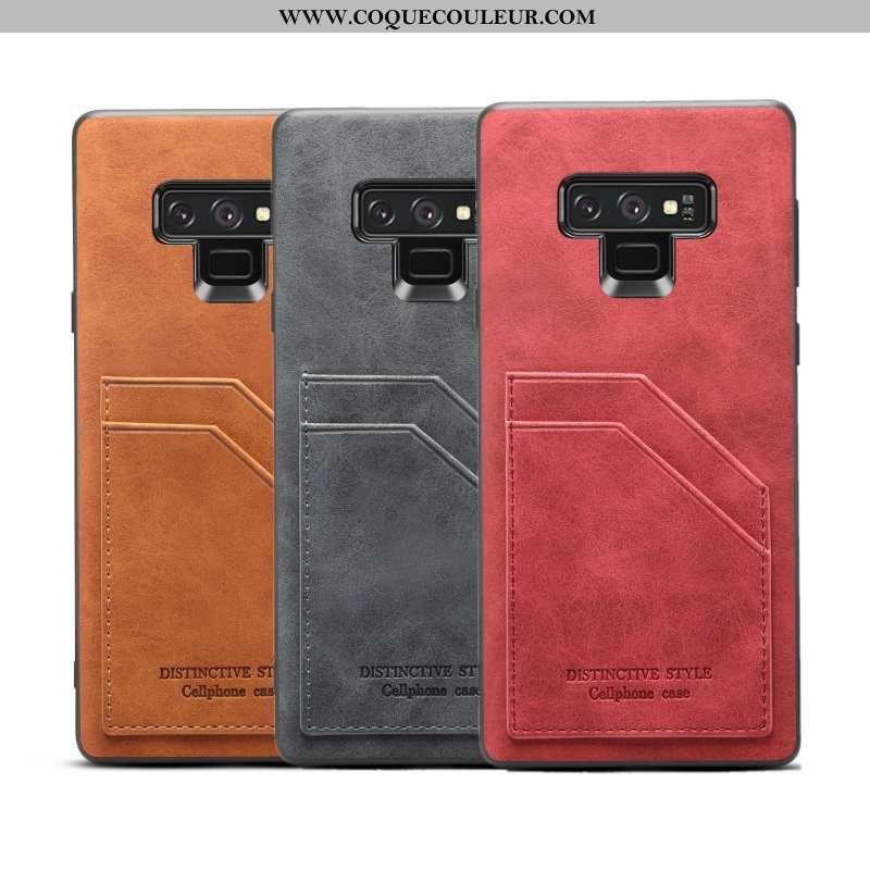 Étui Samsung Galaxy Note 9 Silicone Coque Bordure, Samsung Galaxy Note 9 Protection Rouge