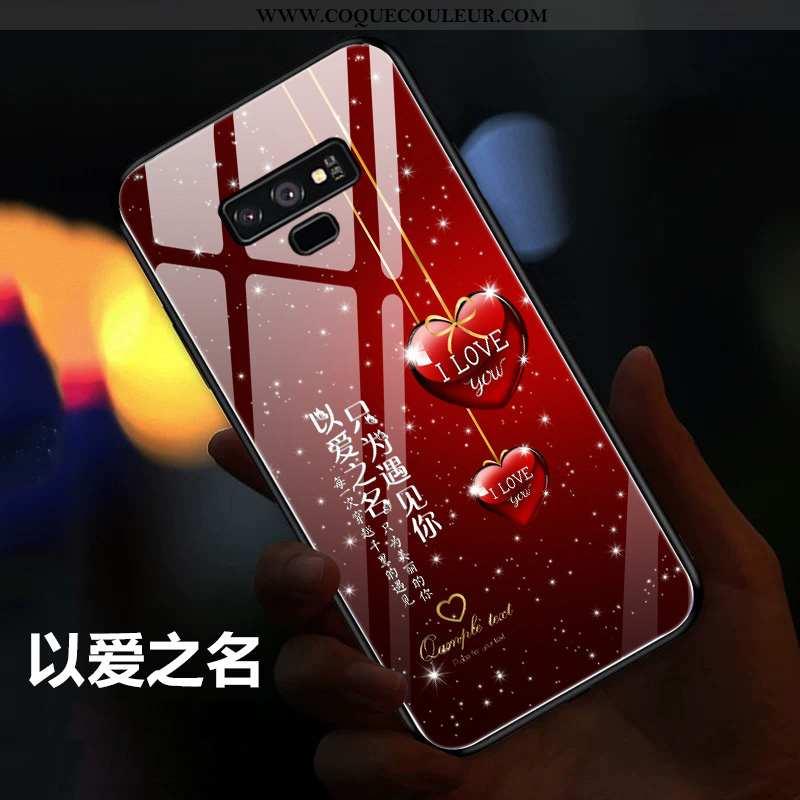 Housse Samsung Galaxy Note 9 Légère Étoile Miroir, Étui Samsung Galaxy Note 9 Silicone Tendance Roug