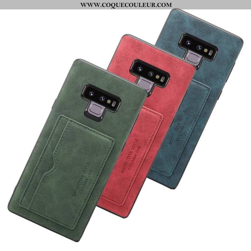 Housse Samsung Galaxy Note 9 Fluide Doux Vert Incassable, Étui Samsung Galaxy Note 9 Protection Télé