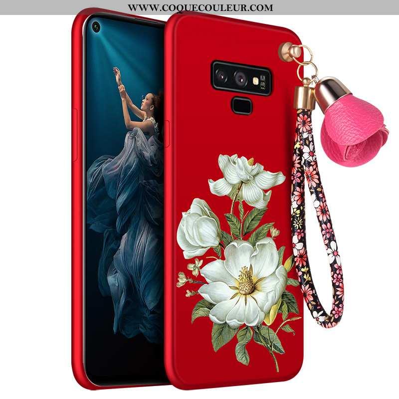Housse Samsung Galaxy Note 9 Délavé En Daim Incassable Coque, Étui Samsung Galaxy Note 9 Fluide Doux