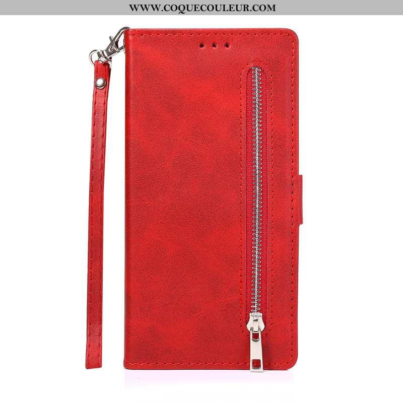 Coque Samsung Galaxy Note20 Cuir Étoile Téléphone Portable, Housse Samsung Galaxy Note20 Étui Rouge