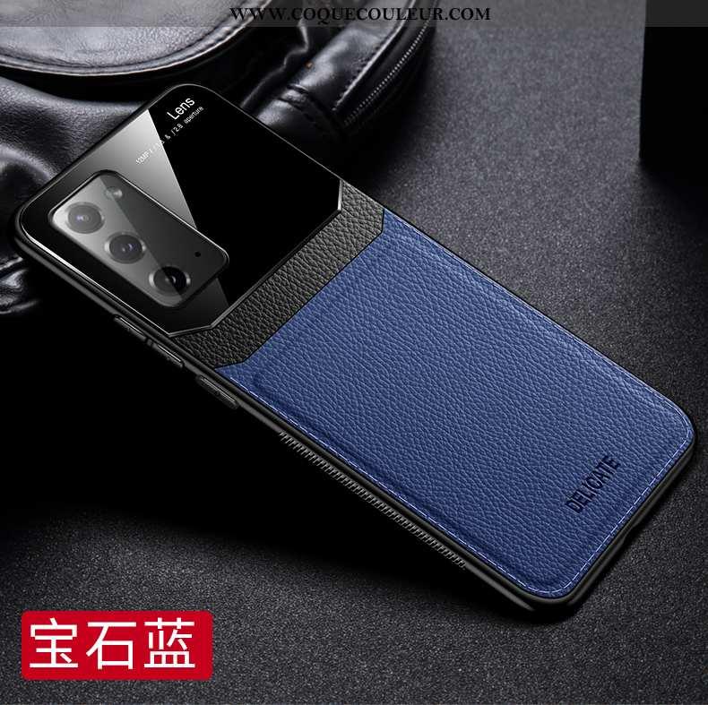 Coque Samsung Galaxy Note20 Verre Étoile Silicone, Housse Samsung Galaxy Note20 Personnalité Créatif