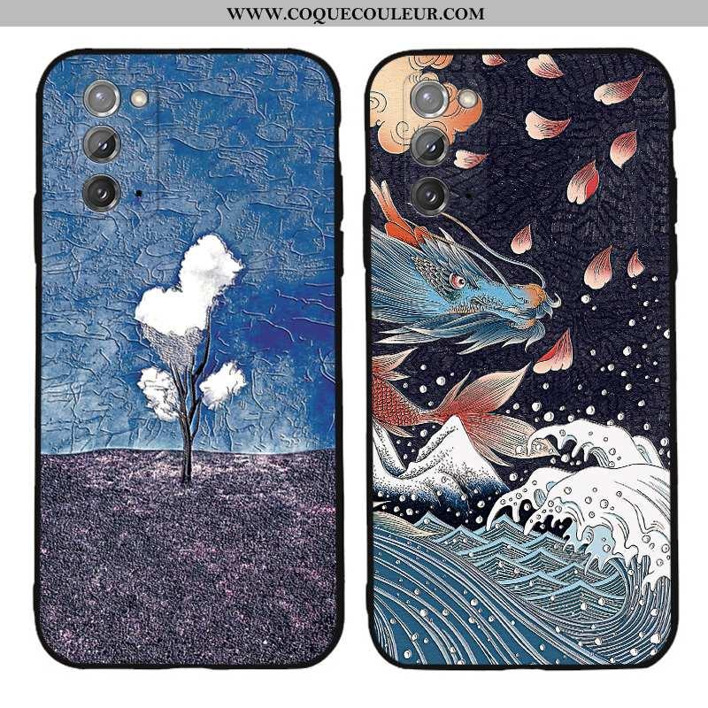 Coque Samsung Galaxy Note20 Fluide Doux Tout Compris Étoile, Housse Samsung Galaxy Note20 Silicone I