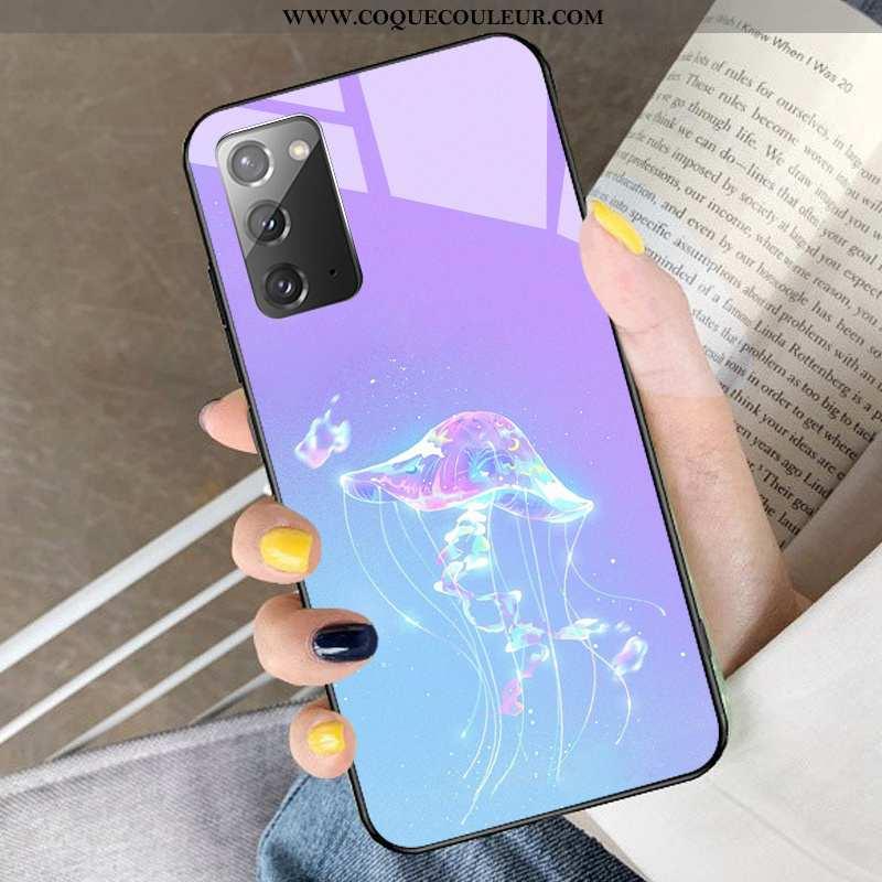 Coque Samsung Galaxy Note20 Dessin Animé Incassable Verre, Housse Samsung Galaxy Note20 Protection É
