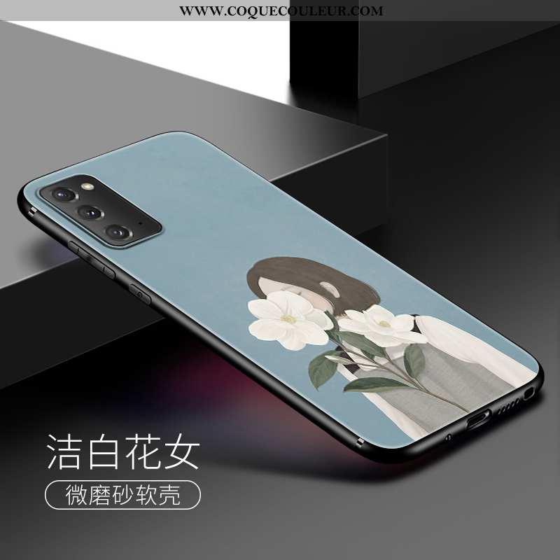 Coque Samsung Galaxy Note20 Délavé En Daim Téléphone Portable, Housse Samsung Galaxy Note20 Fluide D