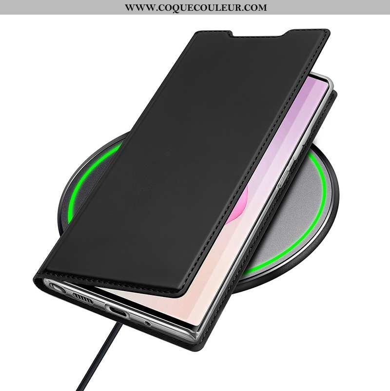 Housse Samsung Galaxy Note20 Cuir Étoile Étui, Étui Samsung Galaxy Note20 Ultra Coque Noir