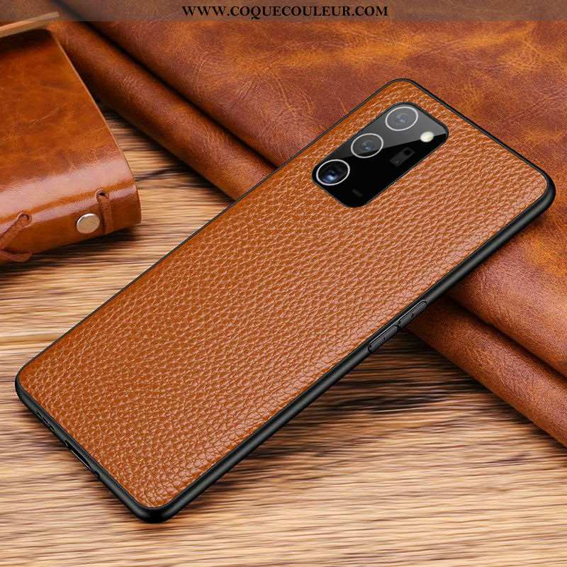 Housse Samsung Galaxy Note20 Cuir Véritable Étoile Étui, Étui Samsung Galaxy Note20 Cuir Couvercle A