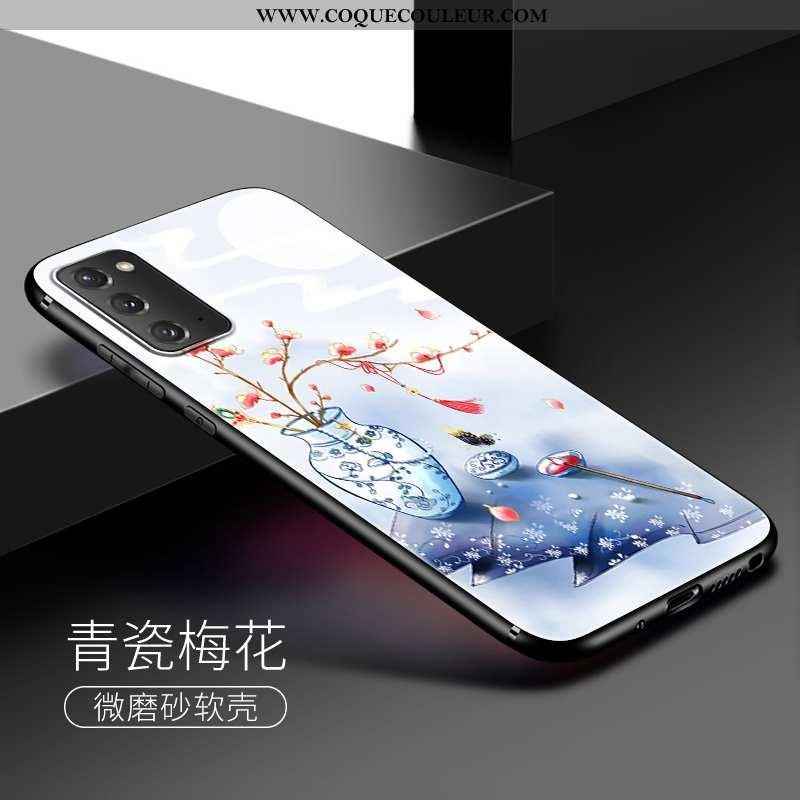 Housse Samsung Galaxy Note20 Silicone Étui Coque, Samsung Galaxy Note20 Téléphone Portable Bleu