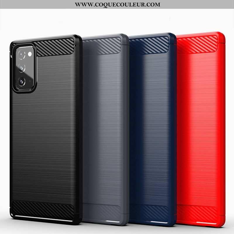 Housse Samsung Galaxy Note20 Fluide Doux Coque Étoile, Étui Samsung Galaxy Note20 Silicone Soie Noir