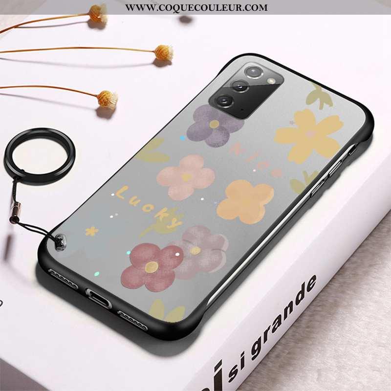 Coque Samsung Galaxy Note20 Transparent Modèle Gris, Housse Samsung Galaxy Note20 Frais Difficile Gr