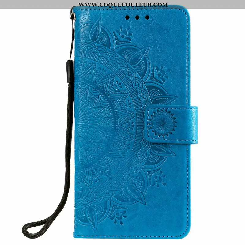 Housse Samsung Galaxy Note20 Cuir Carte Bleu, Étui Samsung Galaxy Note20 Clamshell Bleu