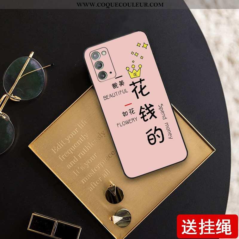 Étui Samsung Galaxy Note20 Créatif Net Rouge Coque, Coque Samsung Galaxy Note20 Ultra Légère Rose