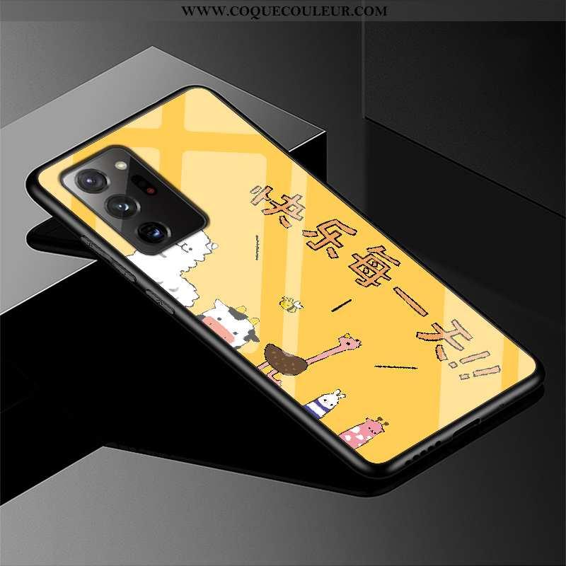 Étui Samsung Galaxy Note20 Ultra Protection Coque Simple, Samsung Galaxy Note20 Ultra Verre Jaune