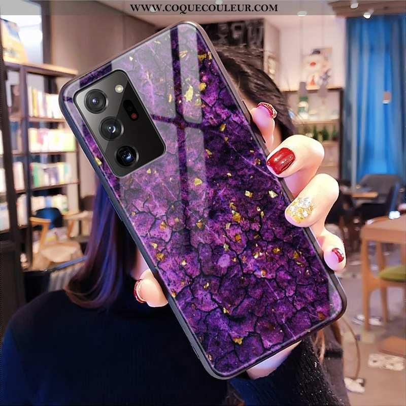 Housse Samsung Galaxy Note20 Ultra Verre Léopard Violet, Étui Samsung Galaxy Note20 Ultra Modèle Fle