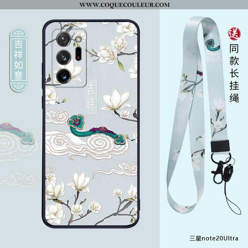 Étui Samsung Galaxy Note20 Ultra Personnalité Coque Bleu, Samsung Galaxy Note20 Ultra Créatif Ultra