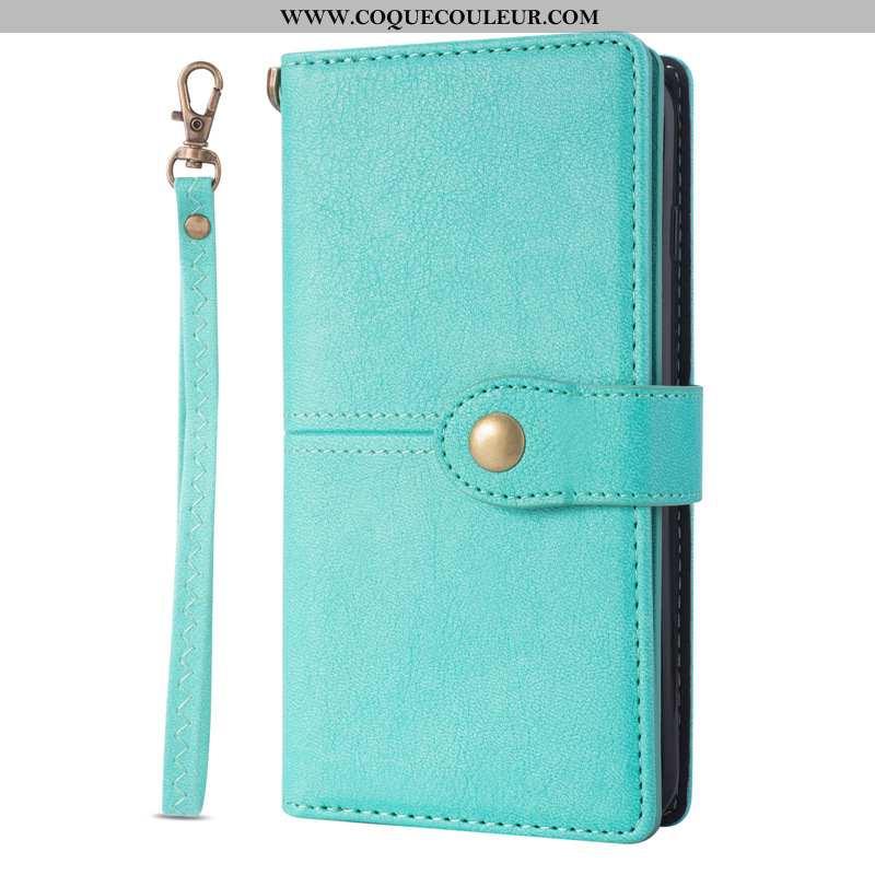 Coque Samsung Galaxy Note20 Ultra Cuir Étui Bleu, Housse Samsung Galaxy Note20 Ultra Téléphone Porta