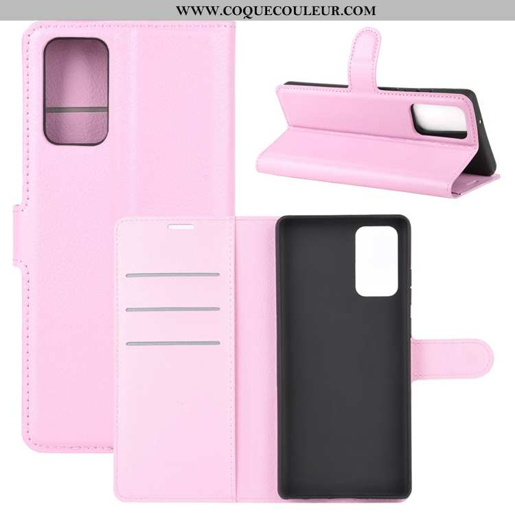 Housse Samsung Galaxy Note20 Ultra Cuir Étui Rose, Samsung Galaxy Note20 Ultra Délavé En Daim Carte