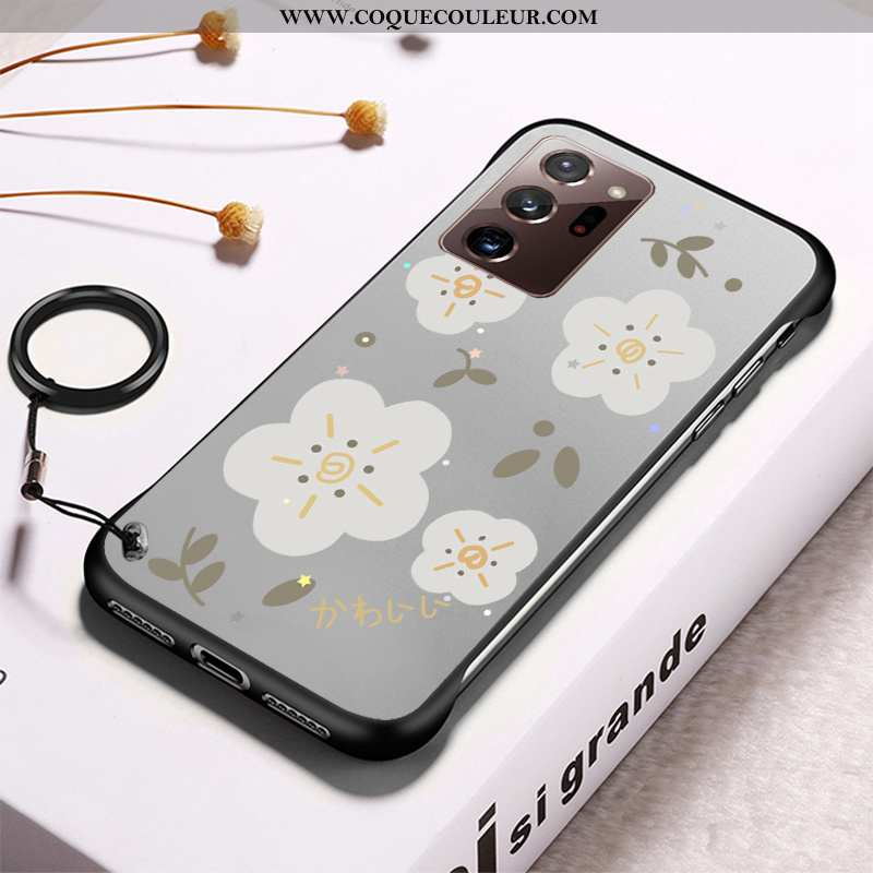 Coque Samsung Galaxy Note20 Ultra Transparent Frais Border, Housse Samsung Galaxy Note20 Ultra Diffi