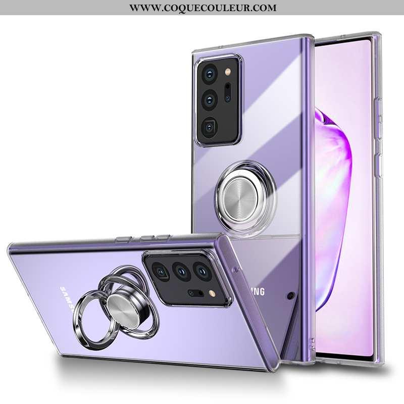 Étui Samsung Galaxy Note20 Ultra Silicone Luxe Magnétisme, Coque Samsung Galaxy Note20 Ultra Transpa