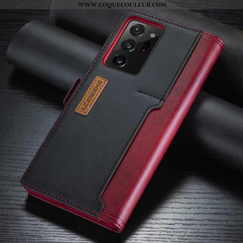 Coque Samsung Galaxy Note20 Ultra Cuir Étoile Coque, Housse Samsung Galaxy Note20 Ultra Carte Téléph