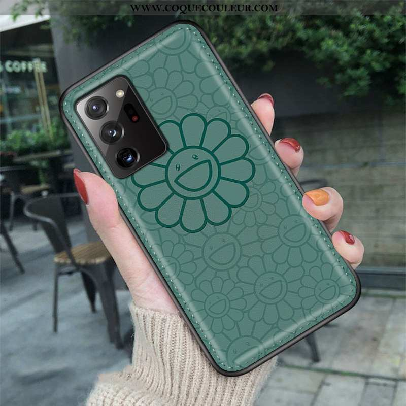 Housse Samsung Galaxy Note20 Ultra Dessin Animé Coque Vert, Étui Samsung Galaxy Note20 Ultra Tendanc