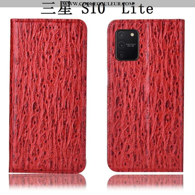 Étui Samsung Galaxy S10 Lite Cuir Véritable Housse Téléphone Portable, Coque Samsung Galaxy S10 Lite