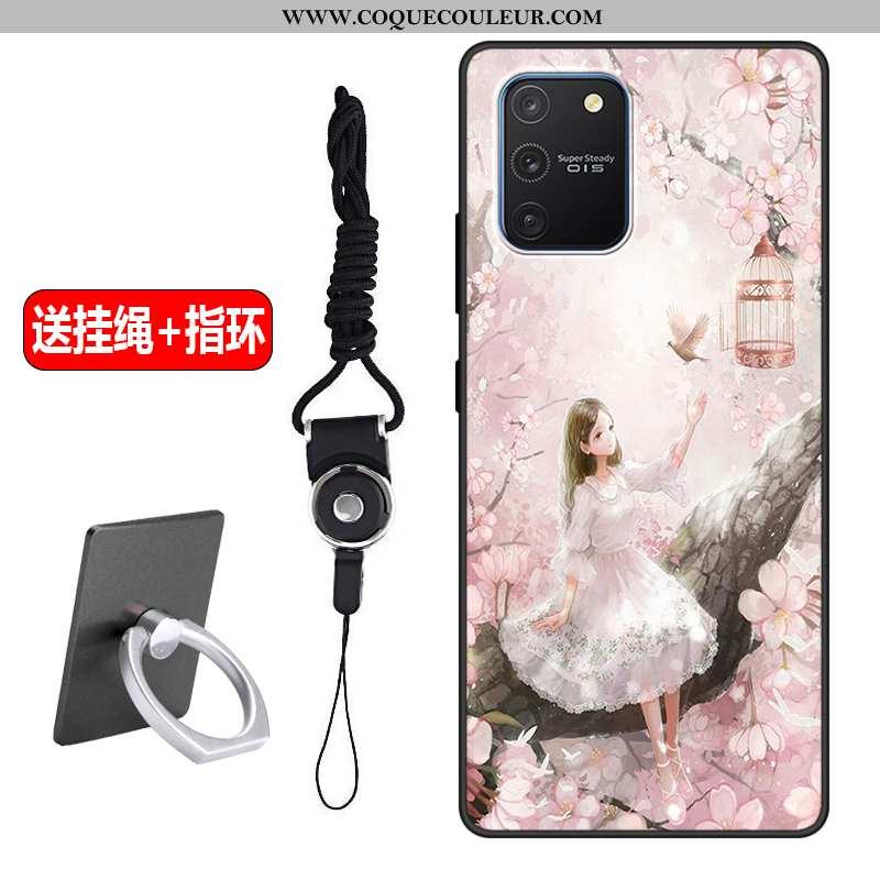 Housse Samsung Galaxy S10 Lite Fluide Doux Téléphone Portable Rose, Étui Samsung Galaxy S10 Lite Sil