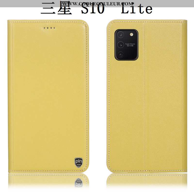 Coque Samsung Galaxy S10 Lite Cuir Véritable Tout Compris, Housse Samsung Galaxy S10 Lite Protection