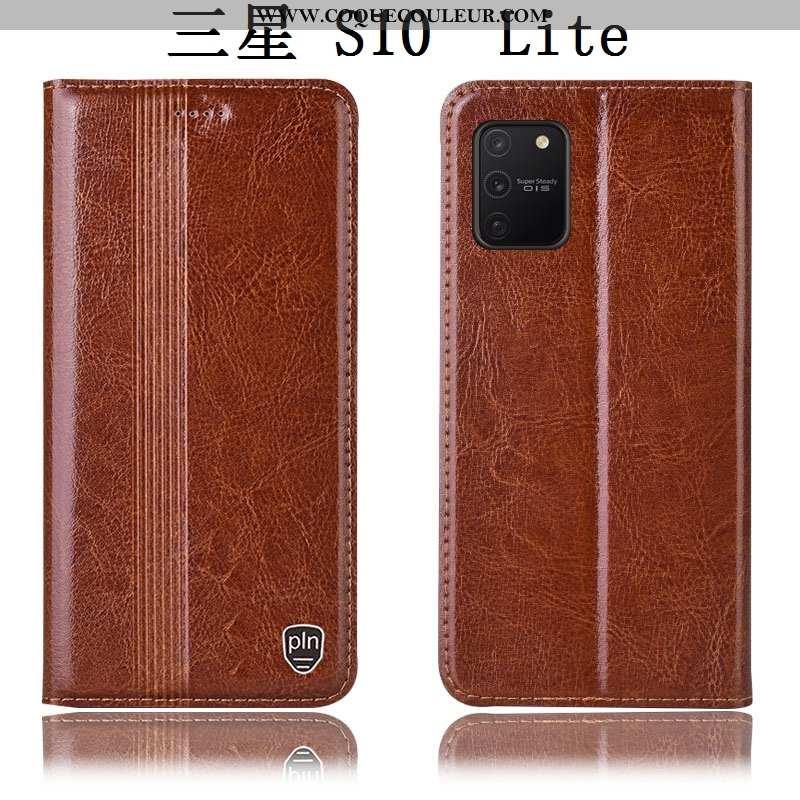 Housse Samsung Galaxy S10 Lite Cuir Véritable Téléphone Portable Étui, Étui Samsung Galaxy S10 Lite