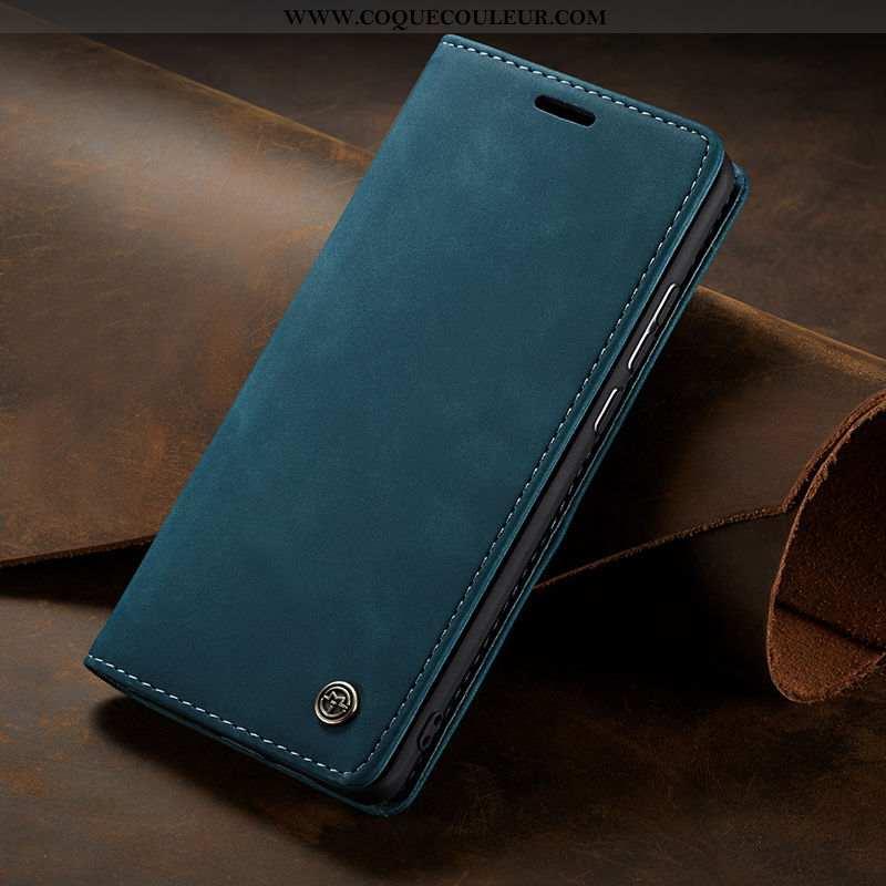 Housse Samsung Galaxy S10 Lite Cuir Bleu Marin, Étui Samsung Galaxy S10 Lite Cuir Véritable Véritabl